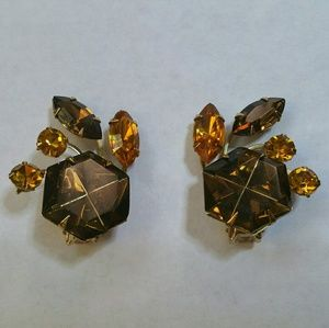 Vintage Beau Jewels rhinestone climber clip on
